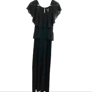 Forever 21 Black Tiered Maxi Dress size M